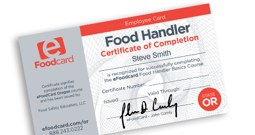 Washington County food handlers card